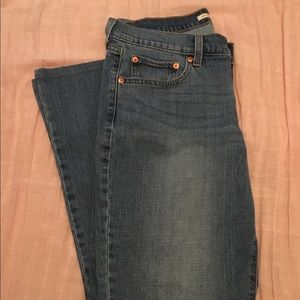 Hemmed!  Levi's 415 Relaxed Bootcut Jeans